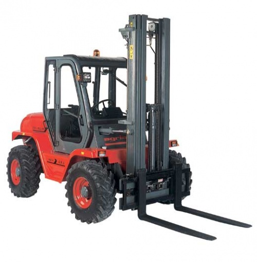 Image result for images of a rough terrain masted lift truck